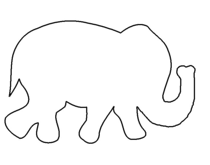 Elephant Template Clipart Best