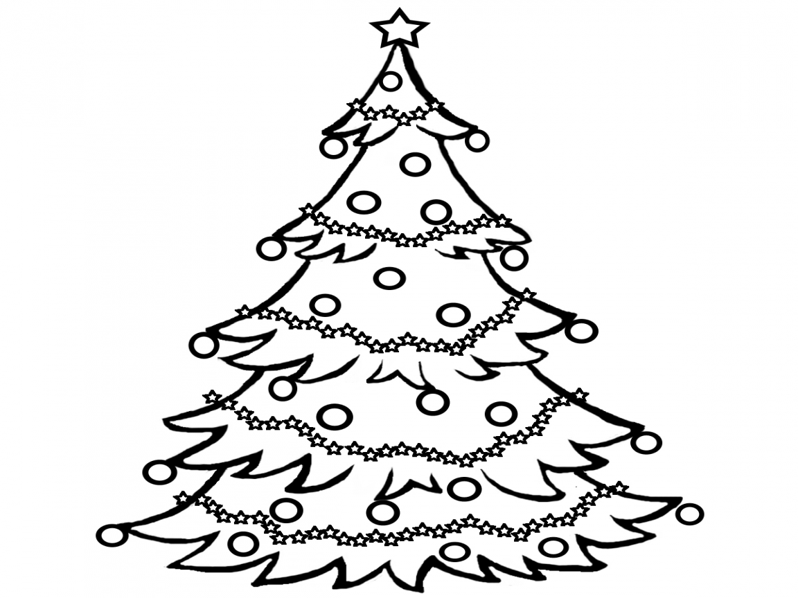 Black And White Christmas Tree - ClipArt Best