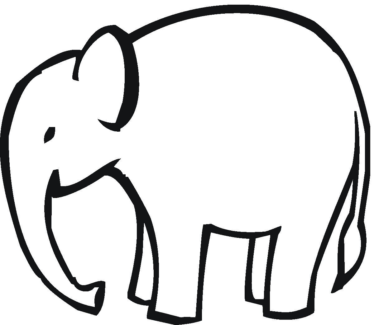 Baby elephant clipart outline clipart panda free clipart images
