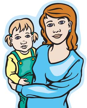 Mother Clip Art Black And White - Free Clipart Images