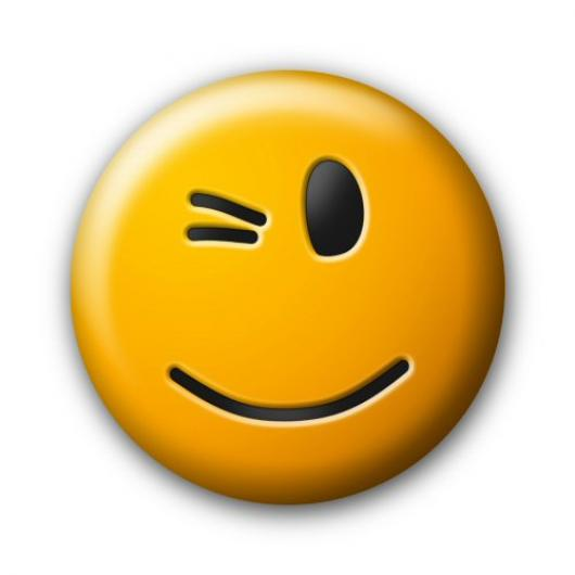 Moving Winking Smiley Face - ClipArt Best