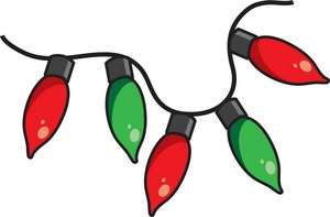 Christmas lights clipart images
