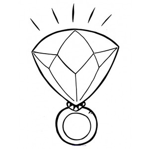 Diamond Ring Coloring Pages Clipart Best