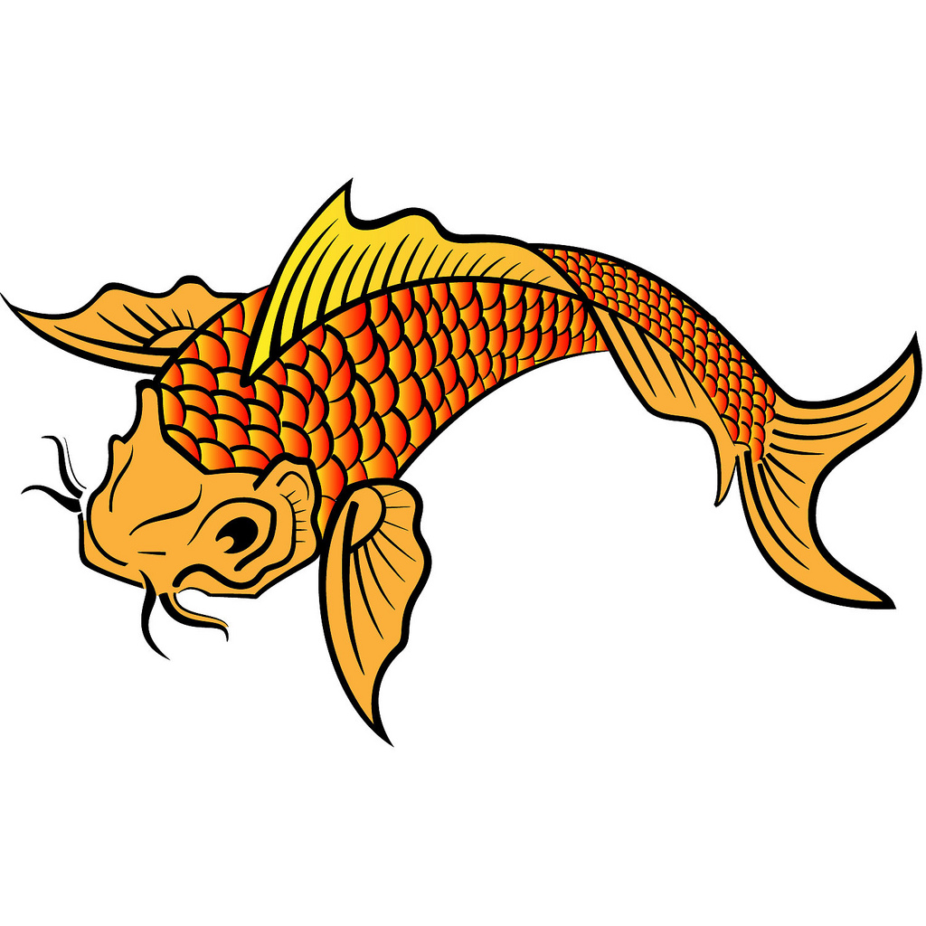 Ikan clipart best for Koi fish vector