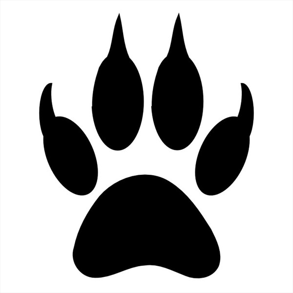 Cat Paw Print Stencil - ClipArt Best