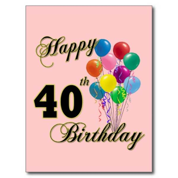 40th Birthday Clipart