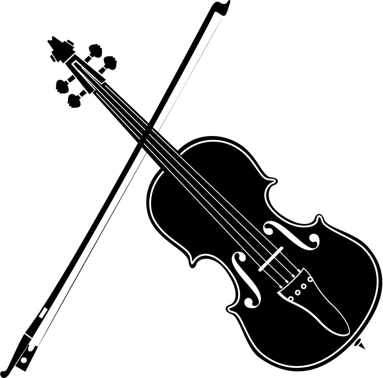 Violin Art Black And White