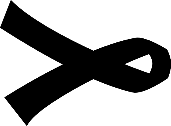 Black Cancer Ribbon - ClipArt Best