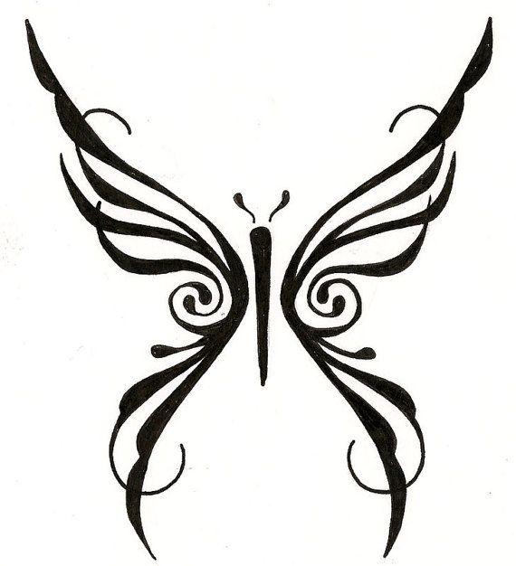 Tribal Butterfly Wings - ClipArt Best