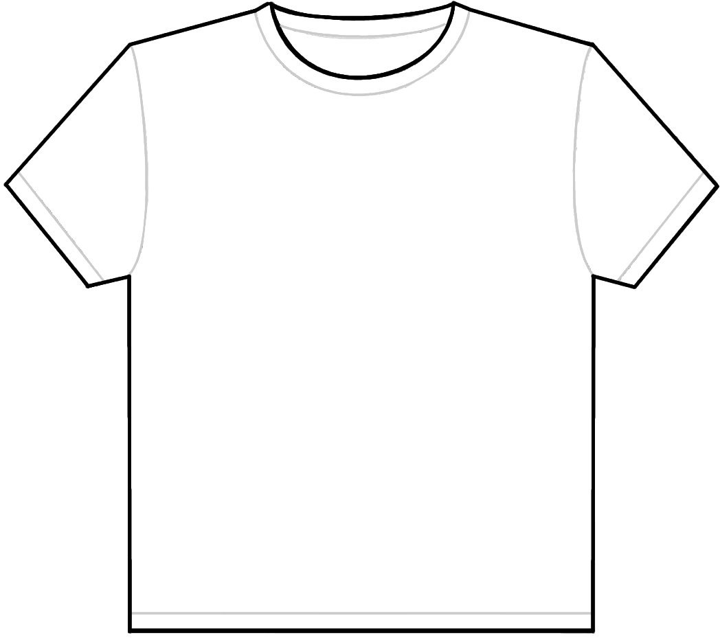 Design your own t shirt template clipart best for Print my own t shirt design