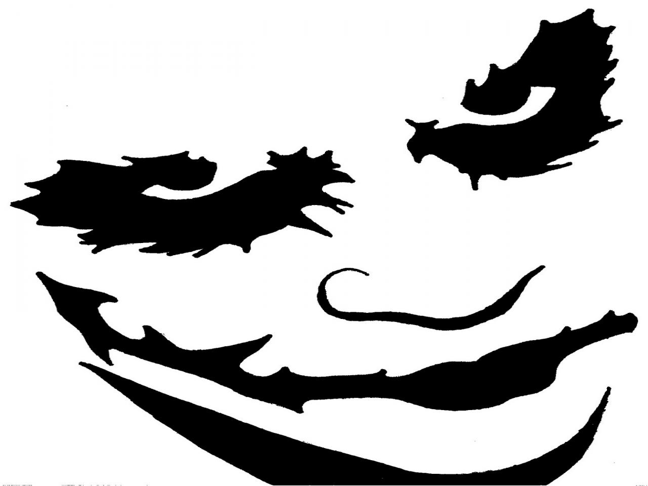 Heath ledger joker stencil clipart best