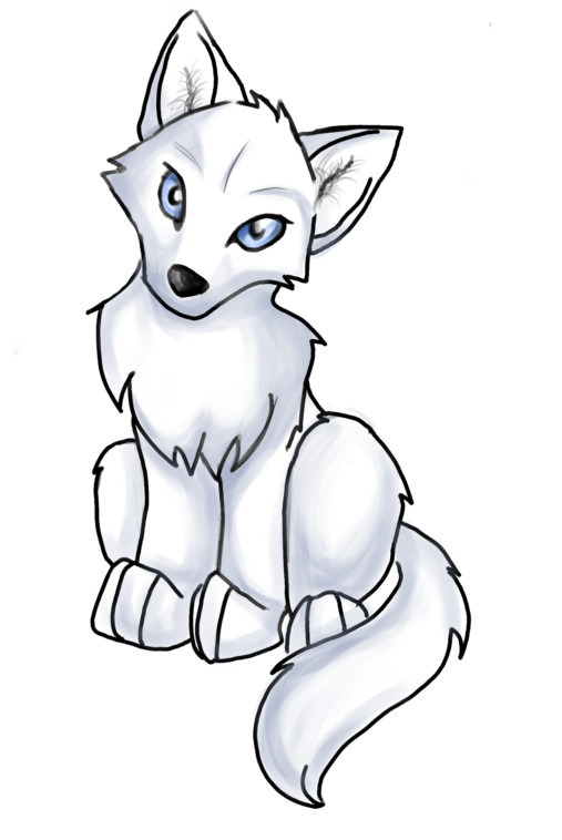 Anime Wolf Pup Easy - ...