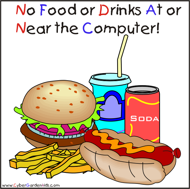 No Food Or Drinks Clipart For Kids
