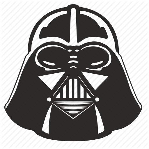 Darth vader vector icon