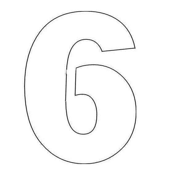 number 2 cake template - numbers stencils clipart best