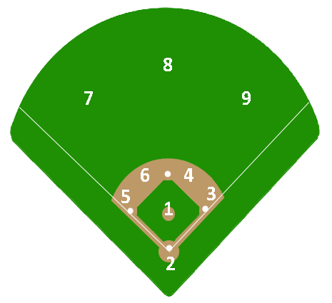Numbered positions in baseball