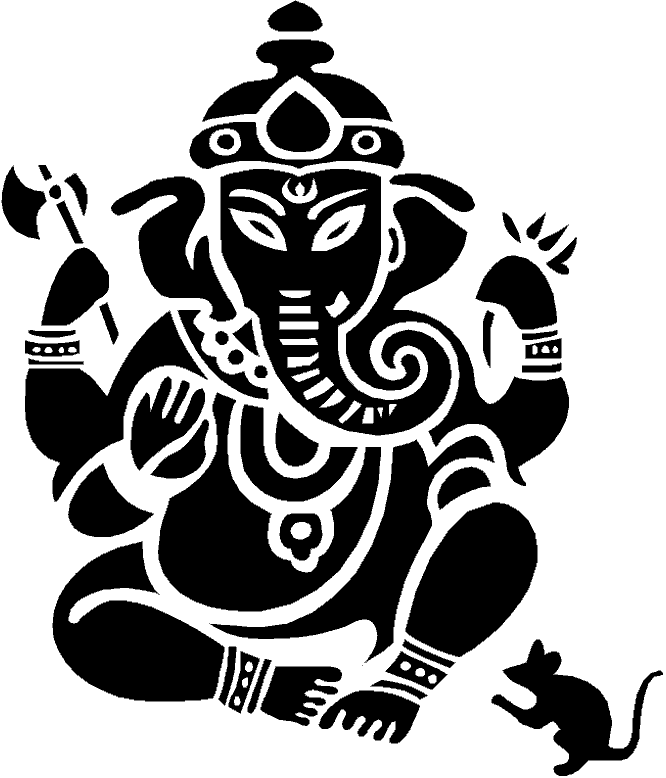 Line Art Ganesh Images : Outline images of lord ganesha clipart best