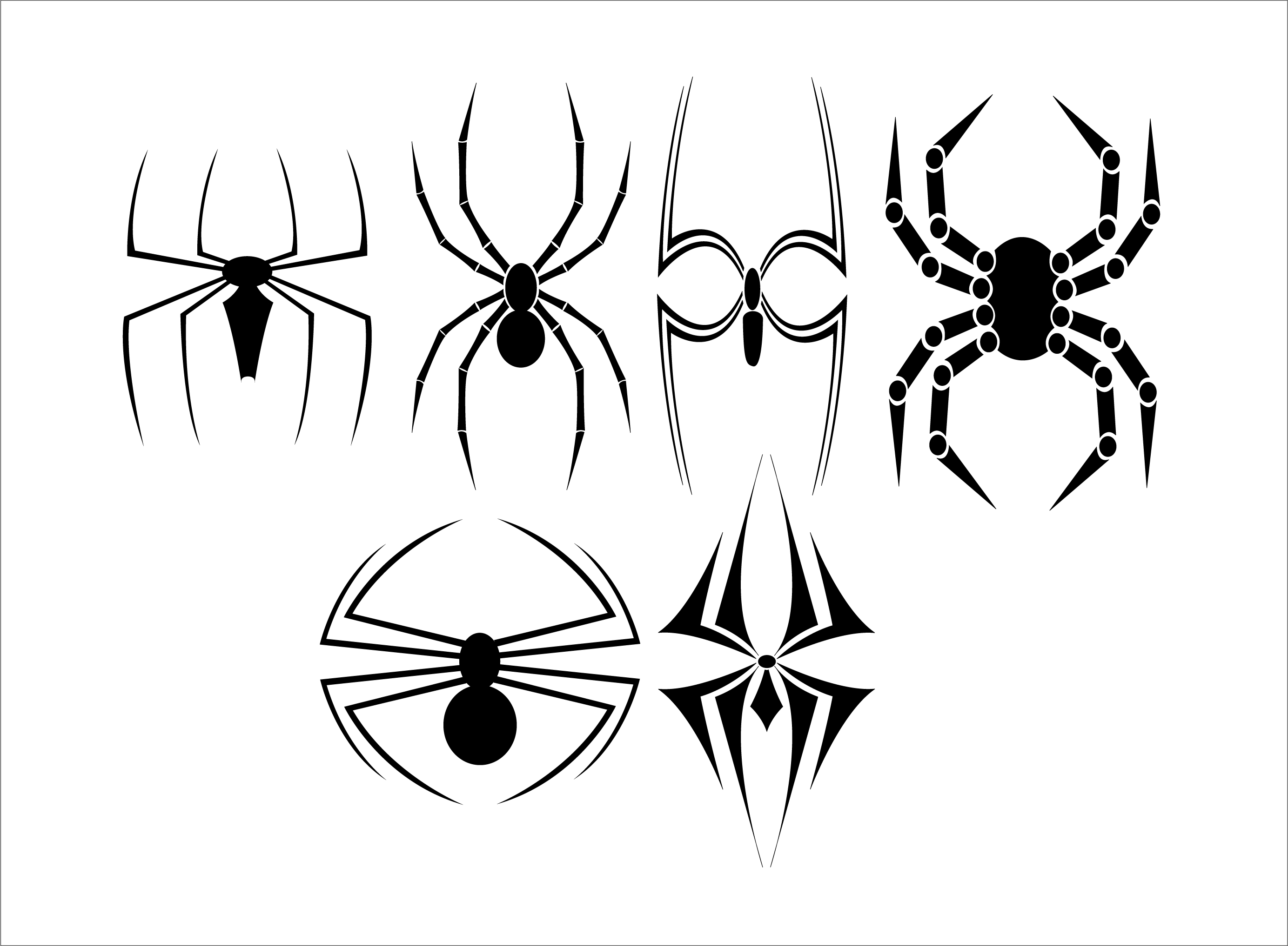 how to draw a spider diagram