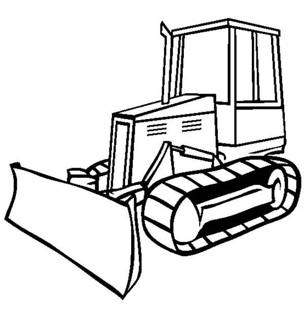 Bulldozer Drawing Clipart Best Bulldozer Coloring Pages