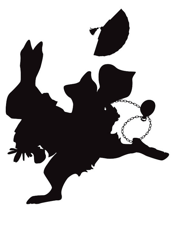 Alice in wonderland silhouette clip art