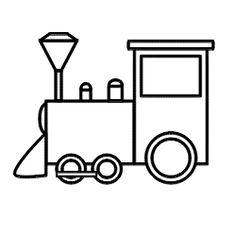 Cartoon Train Outline Clipart Best