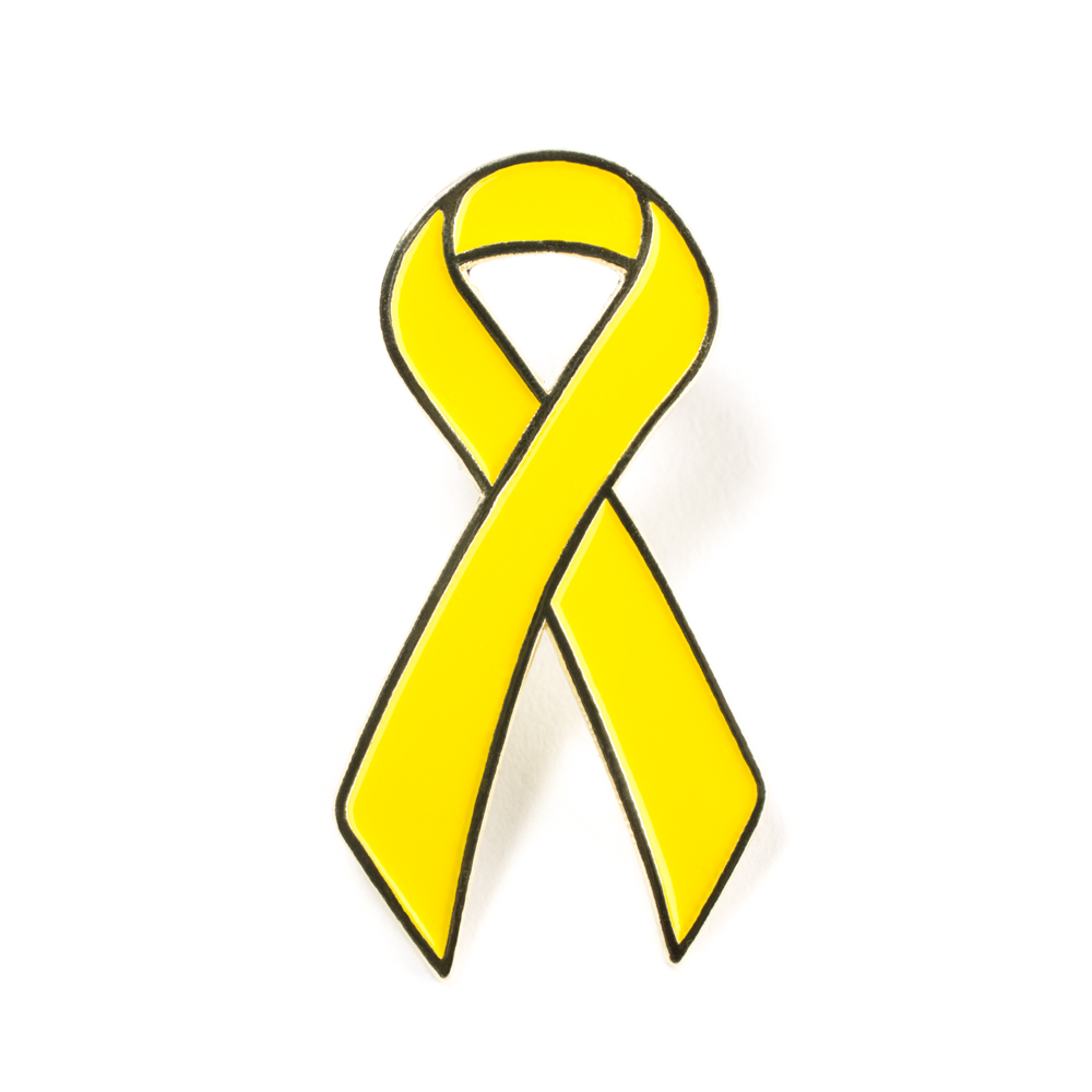 Yellow Cancer Ribbon - ClipArt Best