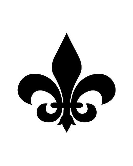 Lively image with fleur de lis printable