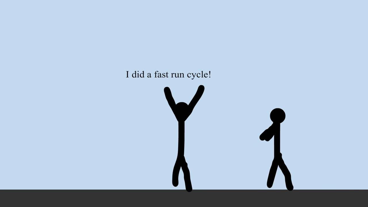 Stick Figure Running Cycle Running Animation Stic...