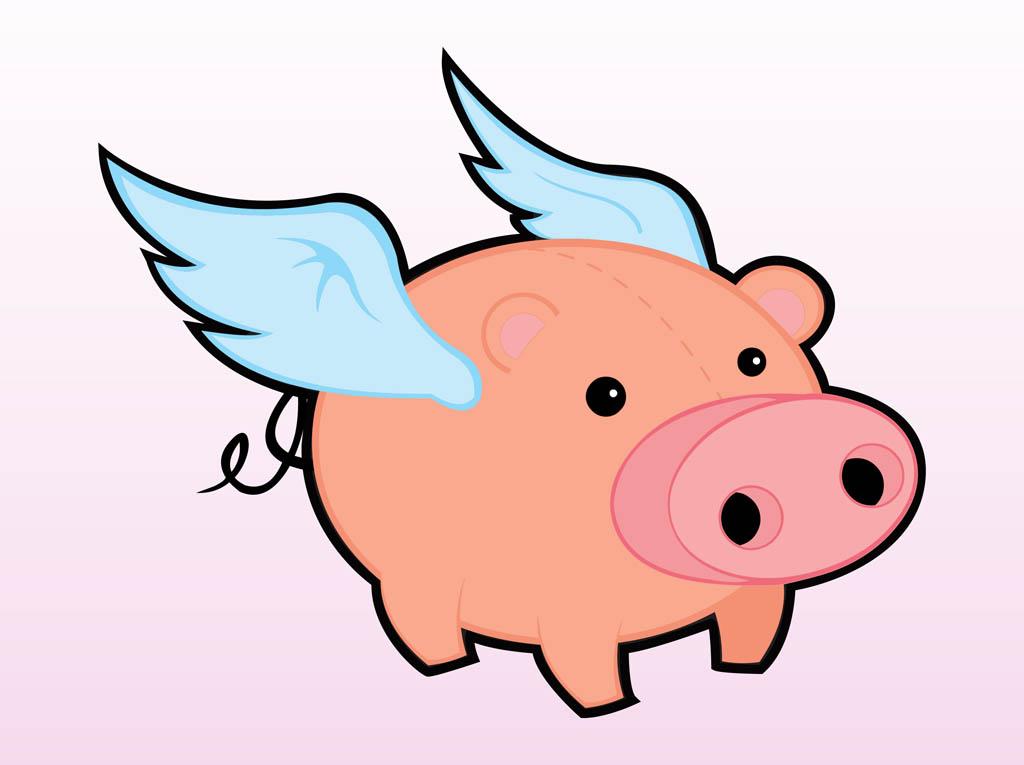Cartoon Flying Pigs - ClipArt Best