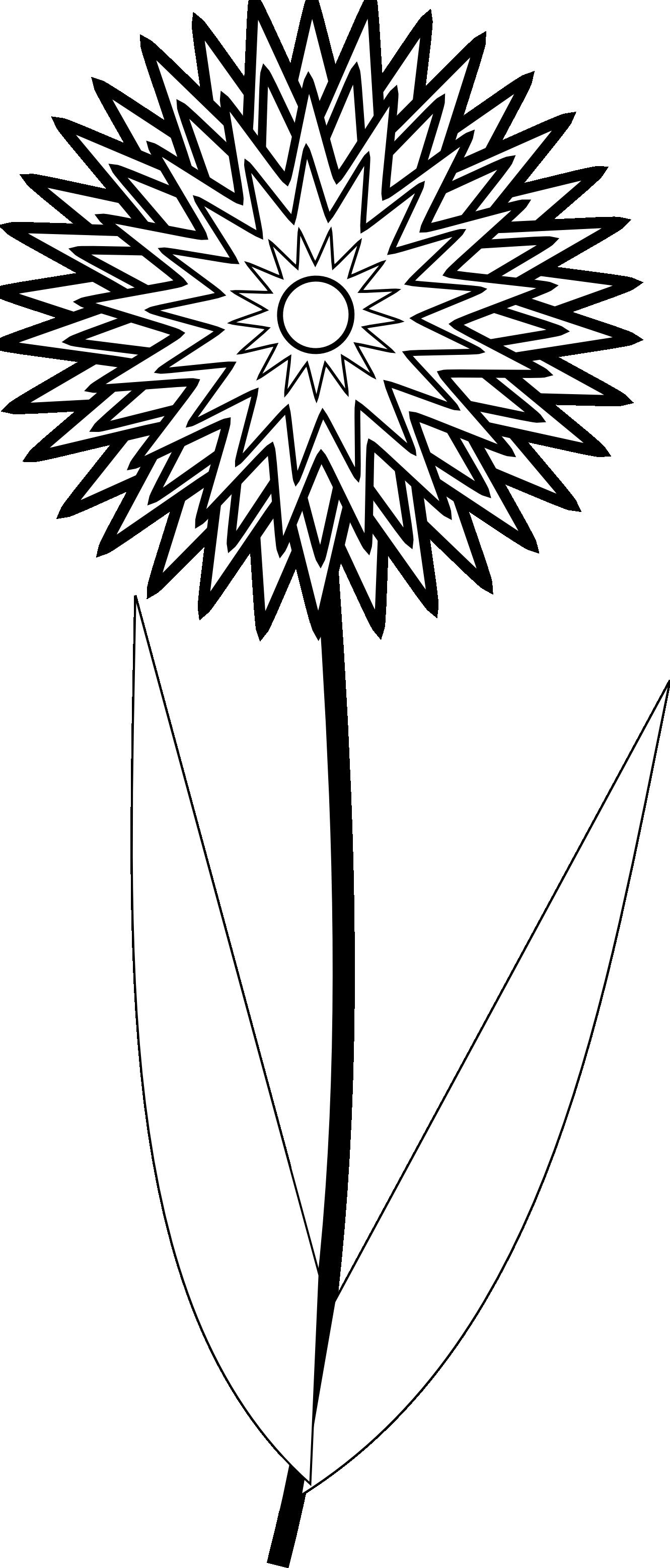 Flower Clip Art Black And White - ClipArt Best