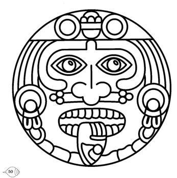 Aztec Calendar Drawings ClipArt