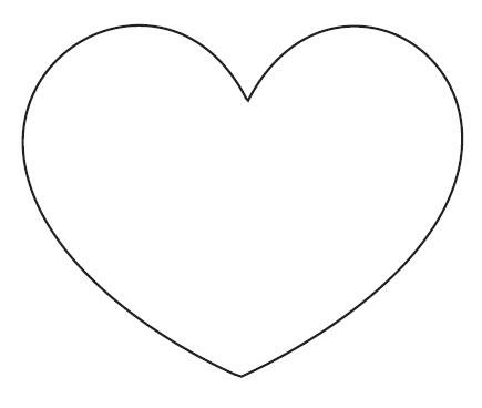 Heart Template - ClipArt Best