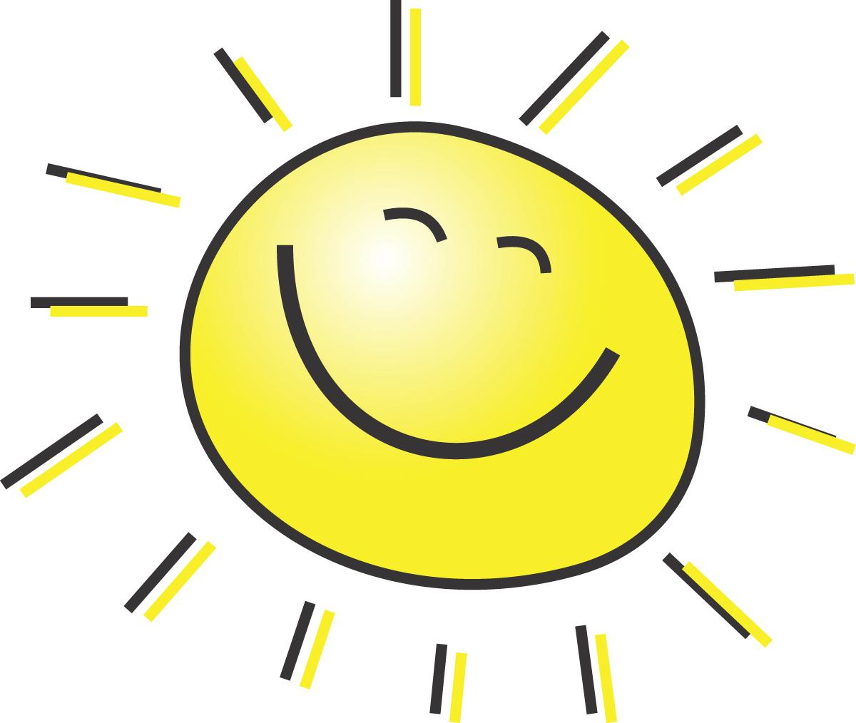 Hot Sun Clip Art - Cli...