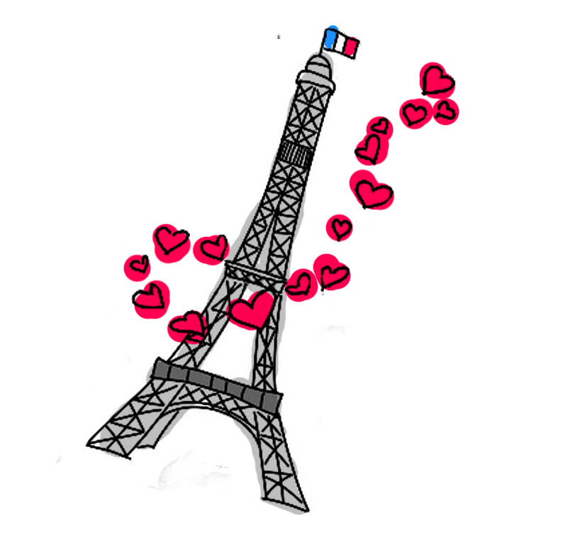 Tower Eiffel Colorful Cartoon - ClipArt Best