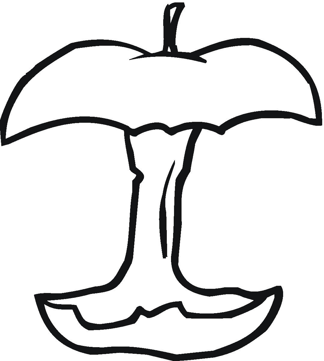 Apple Computer Coloring Pages : Apple pictures to color clipart best