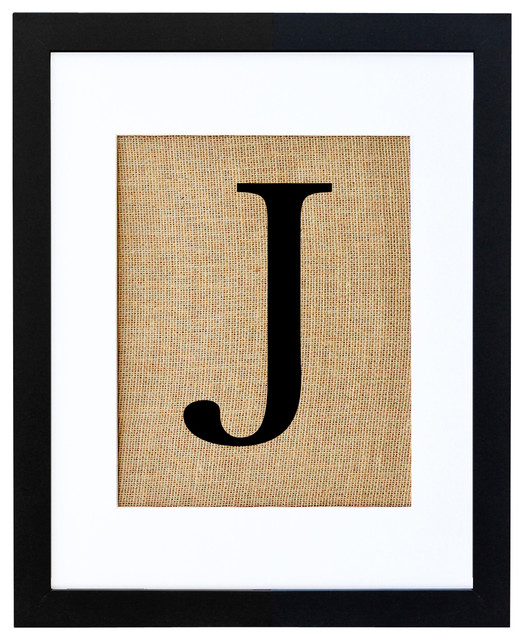 Letter J Art - eclectic - prints and posters - by Fiber and Water