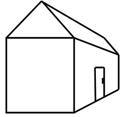 Line Drawing Of House Clipart Best