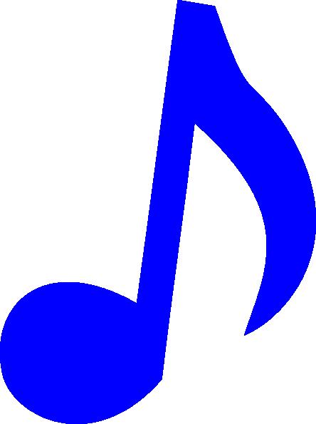 Blue Music Note clip art - vector clip art online, royalty free ...