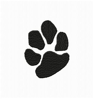 ANIMAL DOG PAW PRINT EMBROIDERY MACHINE DESIGN