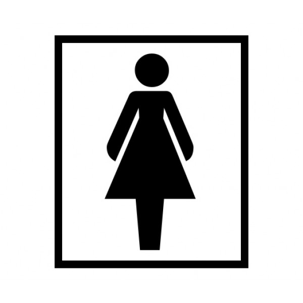 Women restroom signs clipart best for Women only bathroom sign