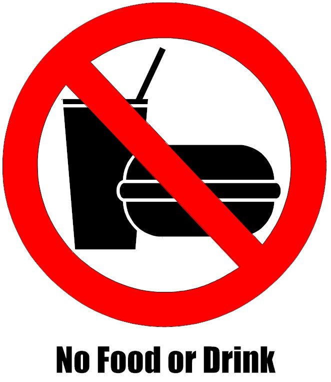 Free Printable No Food Or Drink Signs