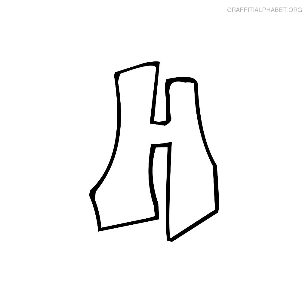 h letter drawing clipart best