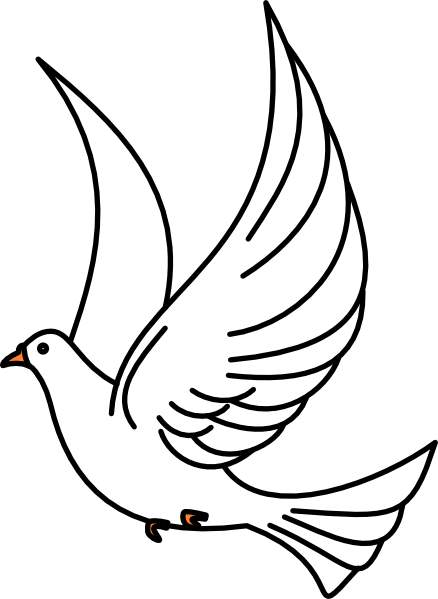 Line Drawing Dove : Dove line drawing clipart best