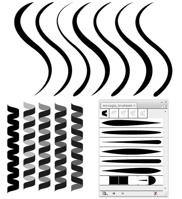 Vector Drawing Lines Download : Adobe illustrator brushes vectors download free