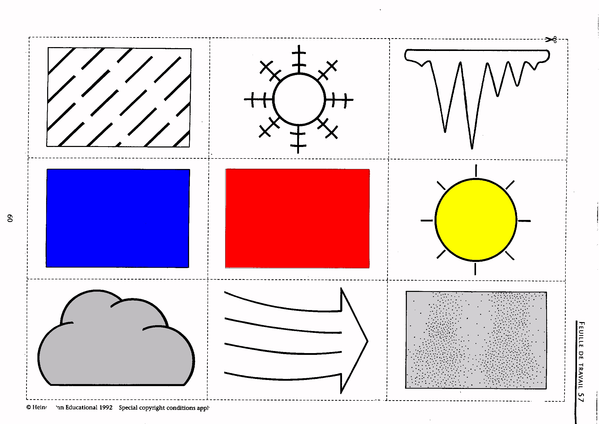 worksheet Weather Map Symbols Worksheet weather forecast symbols for children clipart best french ks3 worksheets