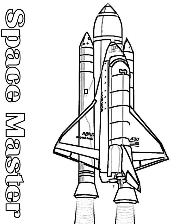 space shuttle outline printables - photo #46