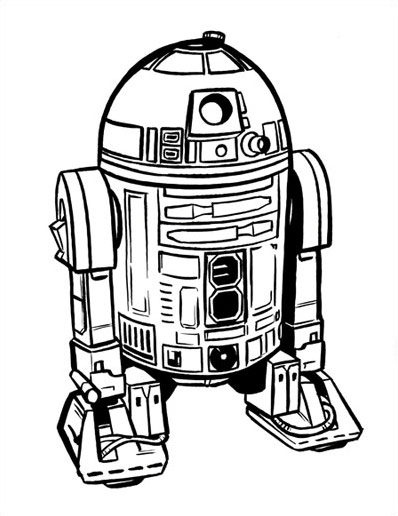 R2d2 Black And White R2d2 Cartoon Images - ...