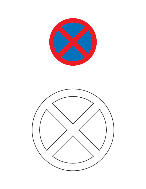 Coloring Road Signs Clipart Best No Coloring Pages
