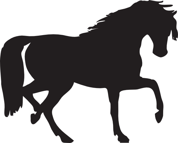 Horse Silhouette clip art - vector clip art online, royalty free ...