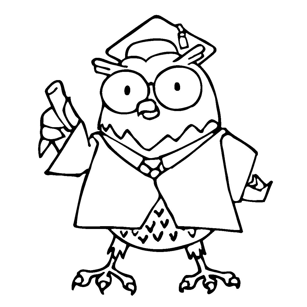 owl professor clipart - photo #14